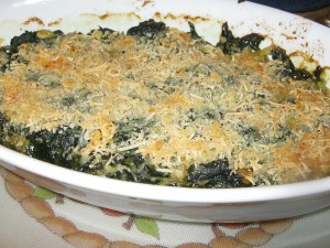 Photo of Gratineed Spinach with Pine Nuts and Golden Raisins