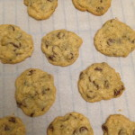 On the parchment paper still, cooling on the rack