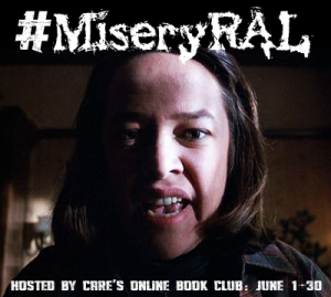 Misery badge with scared woman's face and #MiseryRAL hashtag